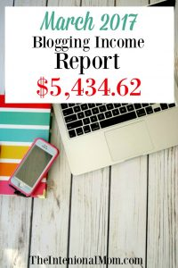 March 2017 Blogging Income Report $5,434.62