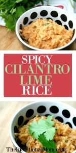 Spicy Cilantro Lime Rice