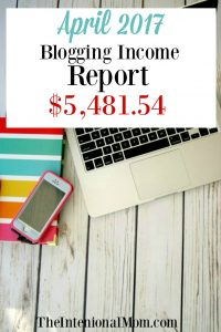 Blogging Income Report April 2017