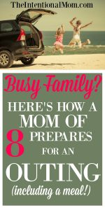 Busy Family? Here's How a Mom of 8 Prepares For a Family Outing
