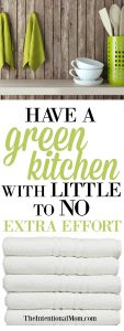 Have a Green Kitchen With Little to No Extra Effort