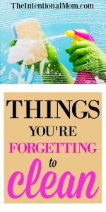Things You're Forgetting To Clean