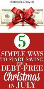 5 Simple Ways To Start Saving For a Debt-Free Christmas in July