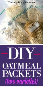 Money Saving DIY Oatmeal Packets