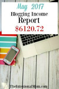 Blogging Income Report May 2017 $6,120.72