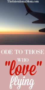 "Ode To Those Who ""Love"" Flying"