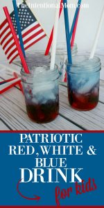 Patriotic Red, White & Blue Drink For Kids