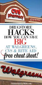Drugstore Hacks: How To Save Big at Stores Like Walgreens, CVS & Rite Aid