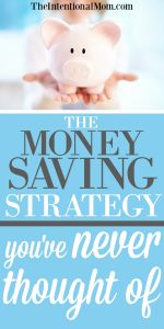 The Money Saving Strategy You've Never Even Thought Of!