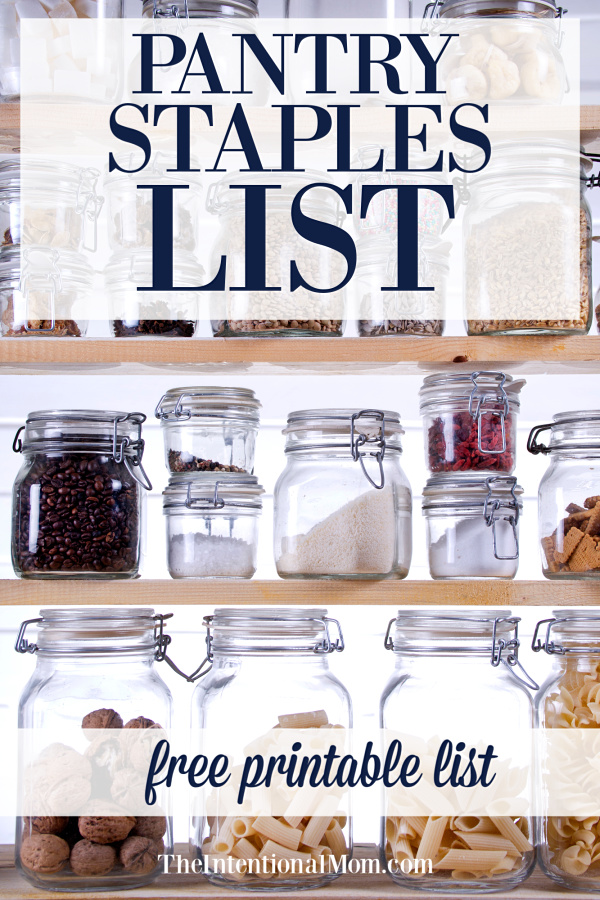 pantry staples list printable
