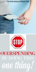 STOP Overspending By Doing This One Thing
