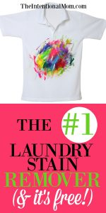 The #1 Laundry Stain Remover(and it's free!)