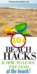 10+ Beach Hacks & How to Leave the Sand At the Beach