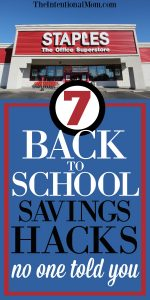 7 Back To School Savings Hacks No One Told You