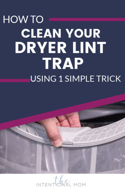 how to clean your dryer lint trap