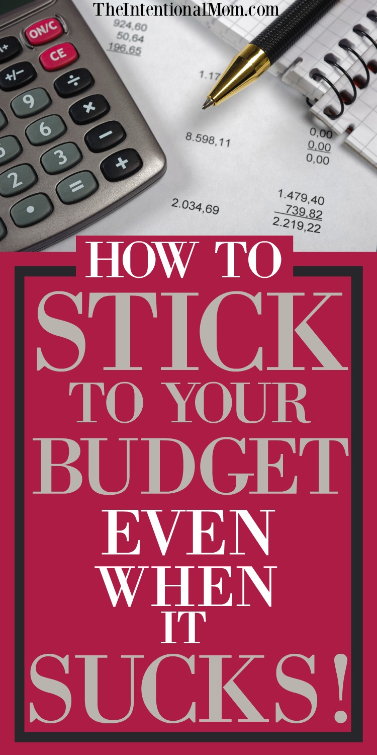 stick to your budget