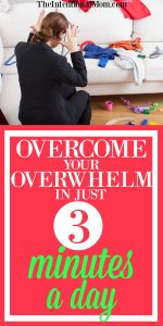 Overcome Your Overwhelm In Just Three Minutes a Day