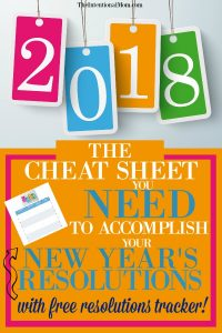 The Cheat Sheet You Need to Accomplish Your New Year's Resolutions (Free Tracker)