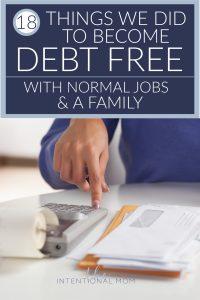 debt free ideas