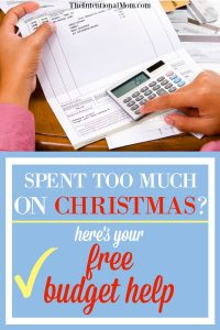 Spent Too Much on Christmas? Here's Your Free Budget Help