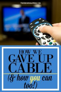 give up cable