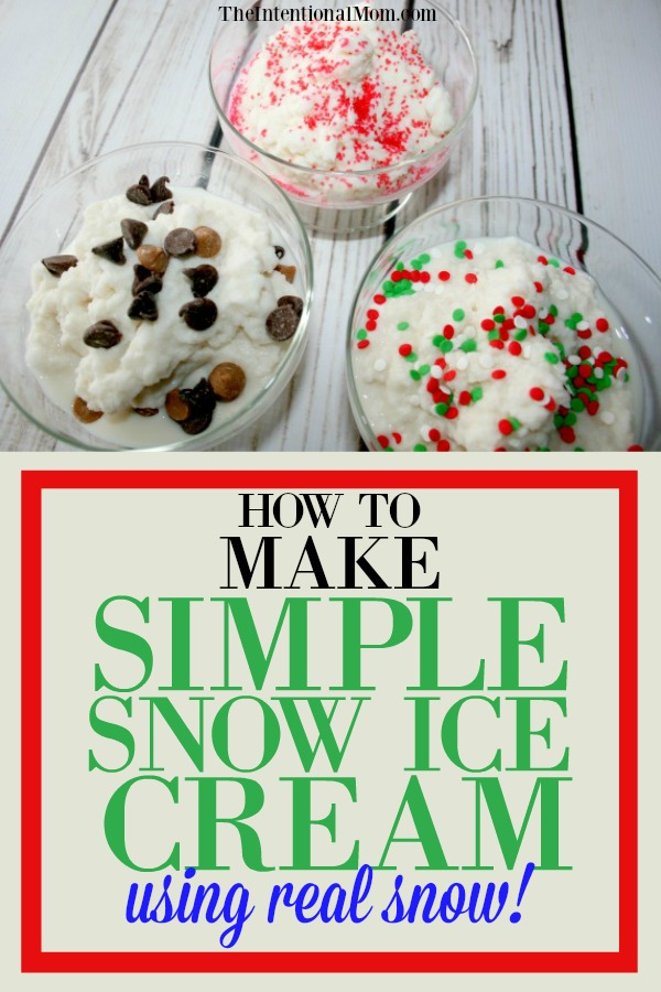 How to make simple snow ice cream using real snow make simple snow ice cream ccuart Gallery