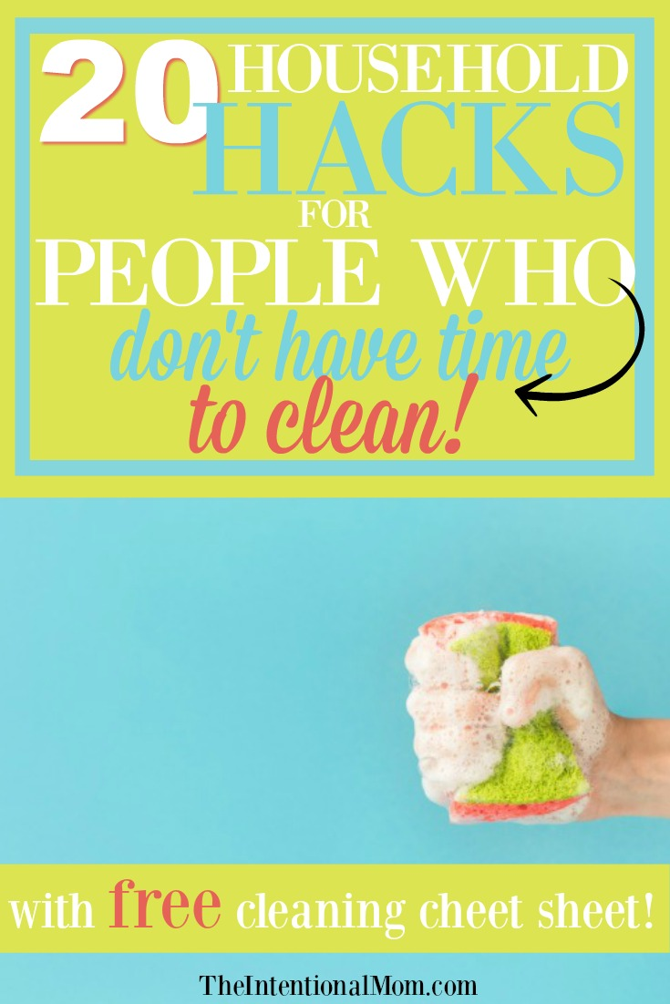 Cleaning Hacks For Busy People - Free Printable!