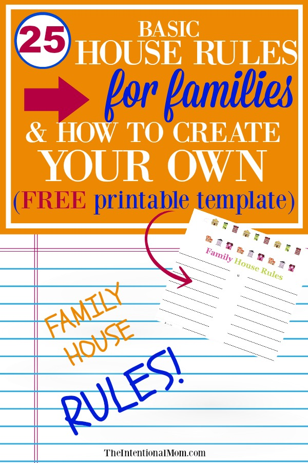house rules family ideas