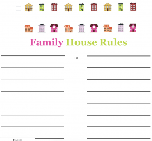 family house rules free printable