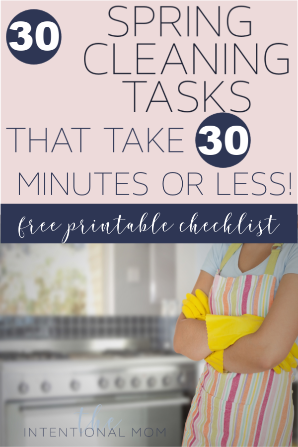 spring cleaning ideas checklist free printable