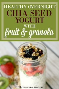 Healthy Overnight Chia Seed Yogurt With Fruit & Granola
