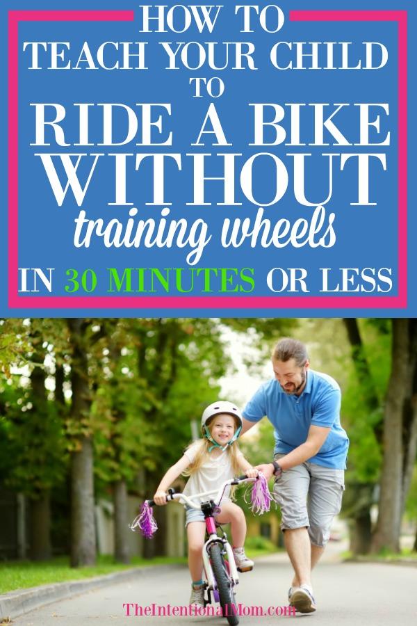 teach kid ride bike without training wheels
