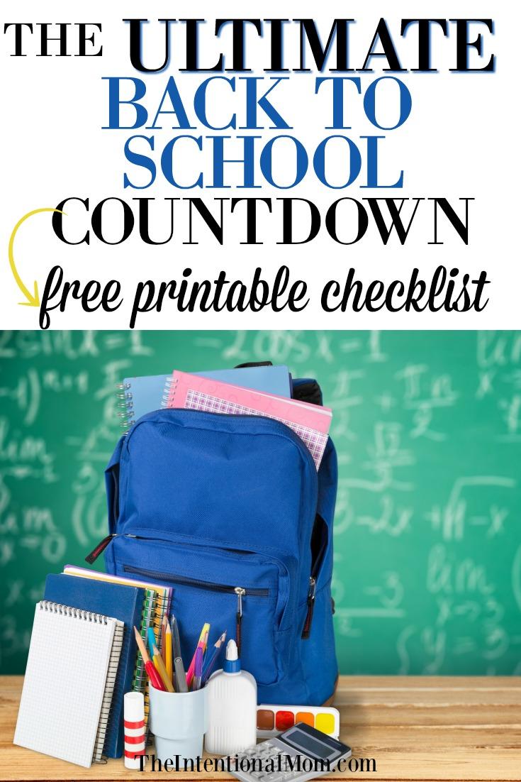 back school checklist