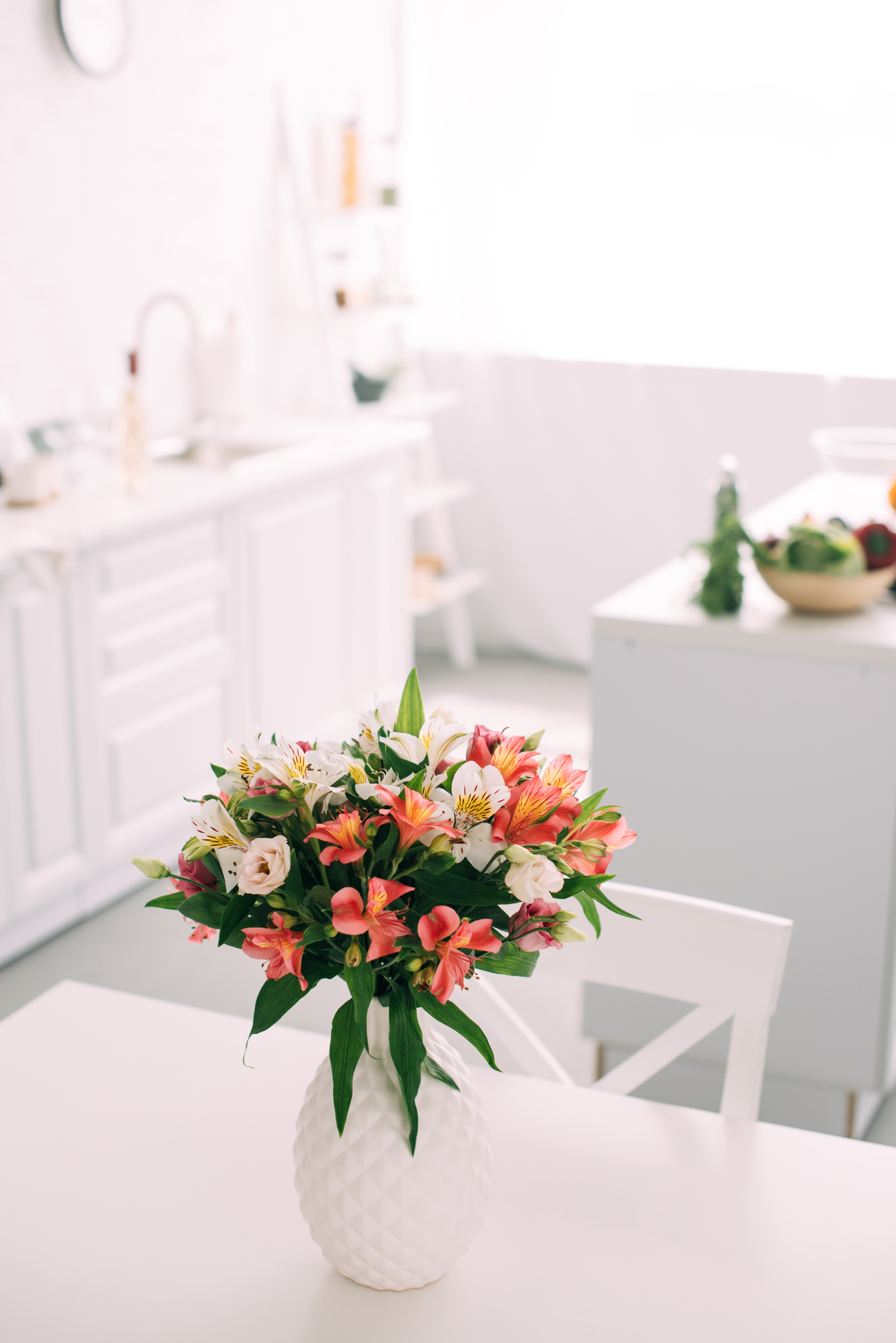 clean kitchen table