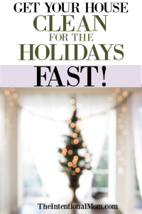 Get Your House Clean For the Holidays In Less Time