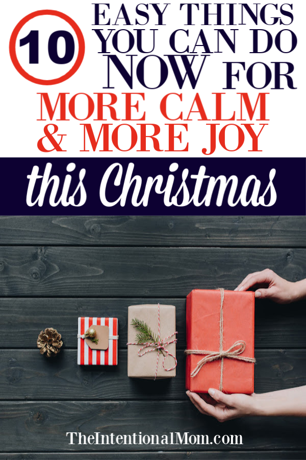 calm christmas holidays