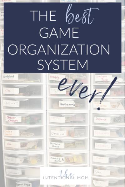 game organization ideas