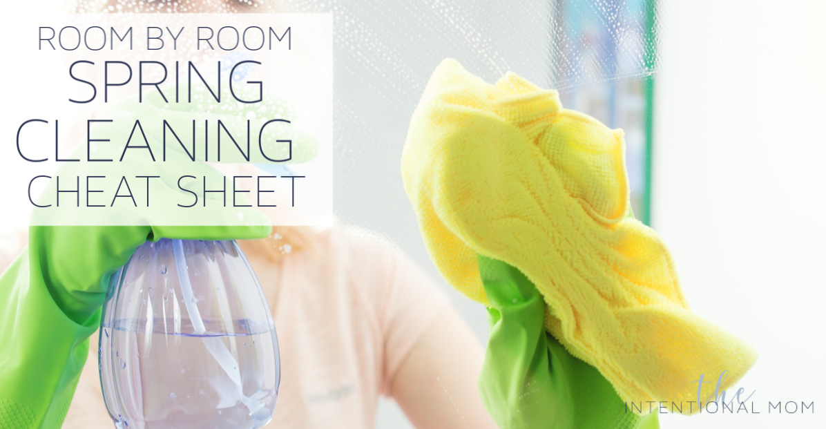 Room By Room Spring Cleaning Cheat Sheet + Free Printable
