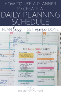 daily schedule planning moms