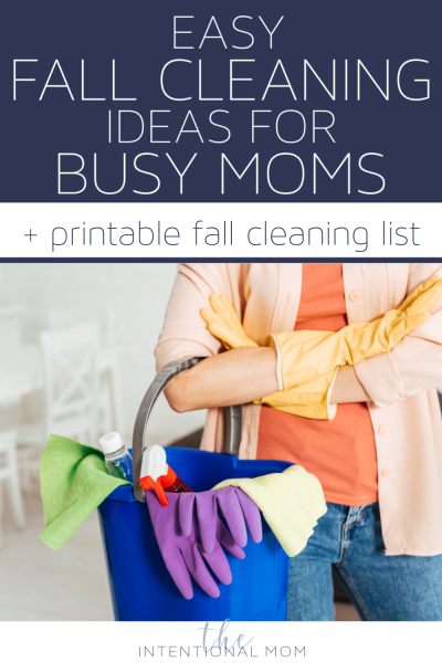 fall cleaning list