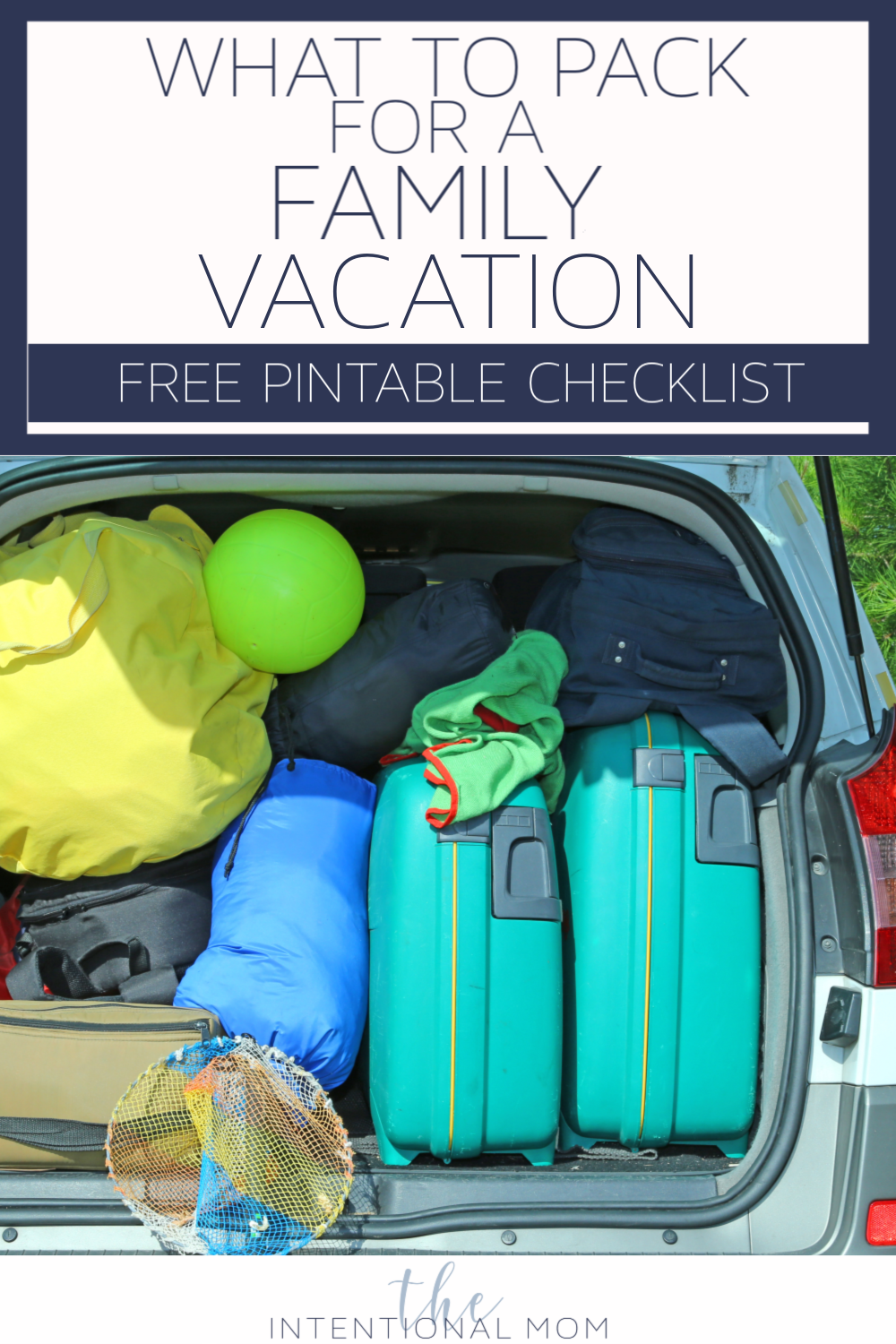 family vacation packing checklist