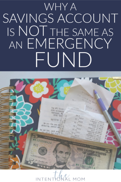 emergency fund savings account