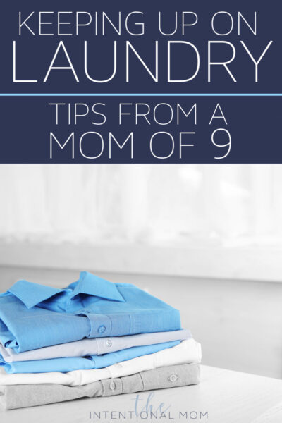 how to keep up on laundry
