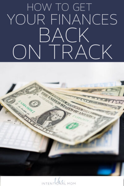 get finances back on track