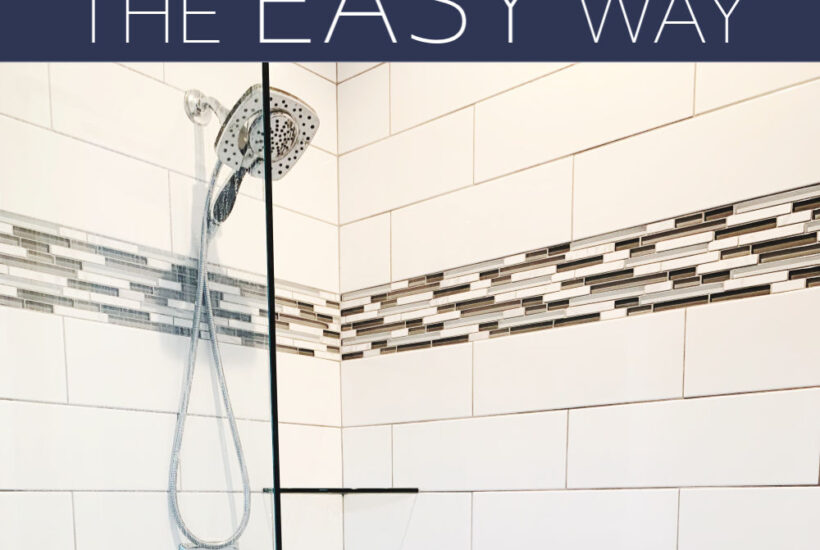 how to clean shower grout easy