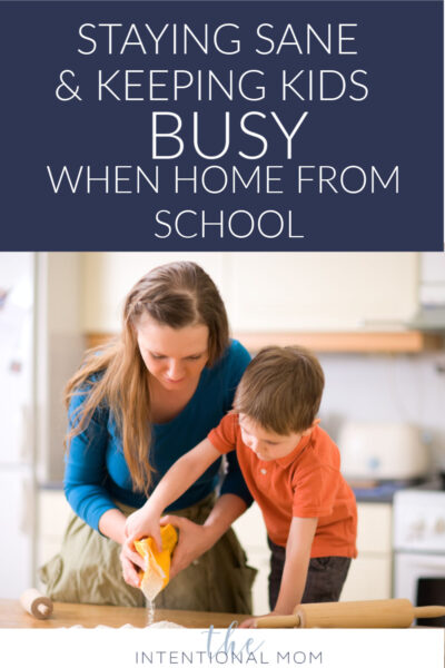 staying sane with kids home from school
