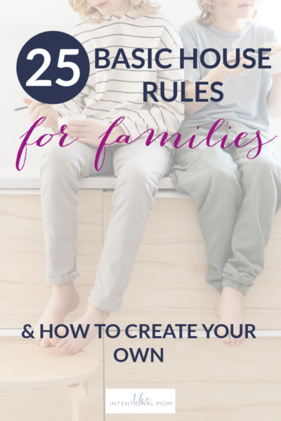 how to create family house rules